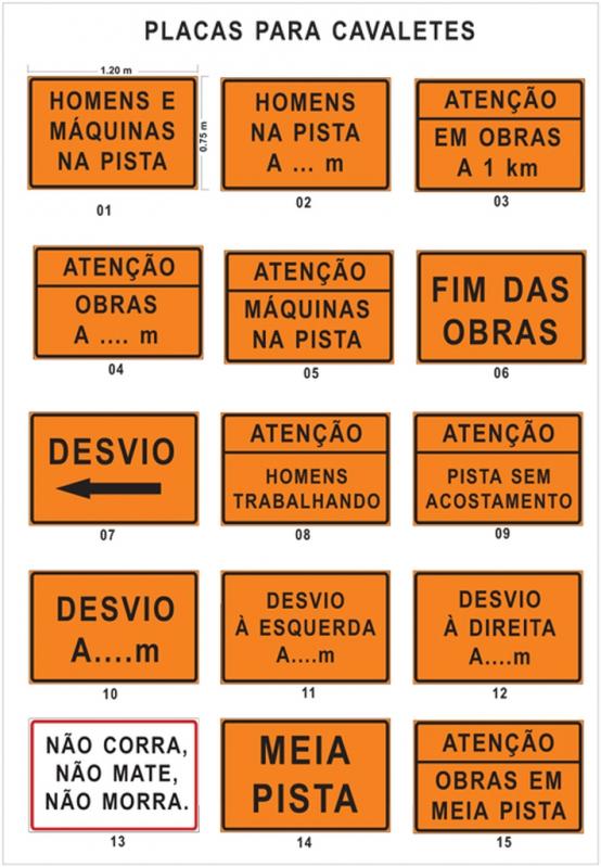 Placa de Sinalização de Obras em Rodovia Araçoiabinha - Placas de Sinalização de Rodovias Que Indicam Velocidade