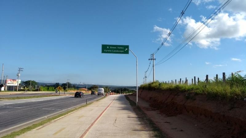 Placa de Sinalização Rodovia Vila Lucy - Placas de Sinalização de Vias Urbanas Rodovia