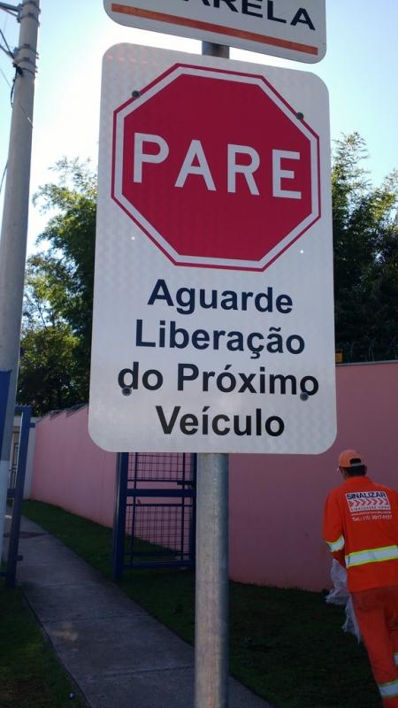 Placas de Sinalização de Vias Urbanas Rodovia Valinhos - Placas de Sinalização de Obras em Rodovia