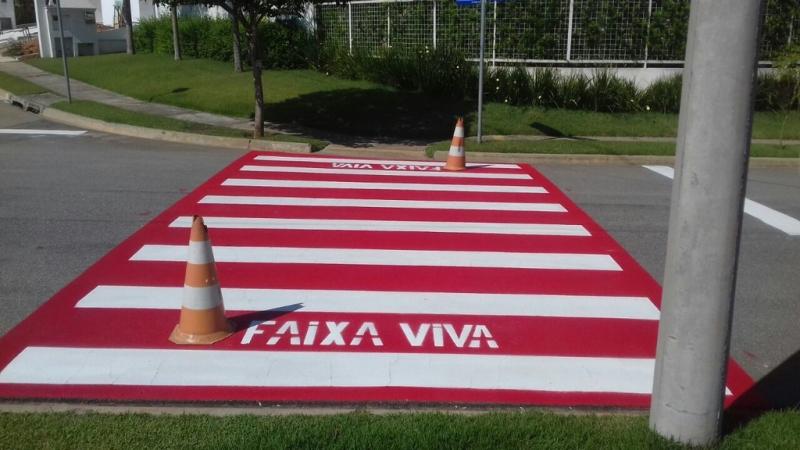 Sinalização Viária Faixa de Pedestre Indaiatuba - Sinalização Viária a Base de Solvente