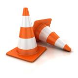 cone trânsito Atibaia