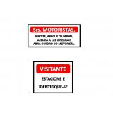 empresas que fazem placas de sinalização de segurança para condomínio Jardim Guadalajara