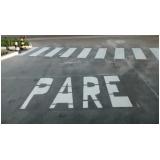 pintura sinalização tipo horizontal valor Jardim Guadalajara