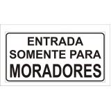 placa de sinalização de segurança para condomínio Votorantim