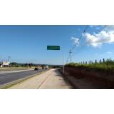 placa de sinalização rodovia Salto