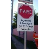 placa de sinalização vertical Jardim Itanguá