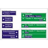 placa sinalização para rodovia Votorantim