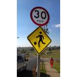 placas de sinalização de rodovias que indicam velocidade valores Jardim Sandra