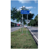 placas de sinalização de vias urbanas rodovia valores Jardim Santa Rosa