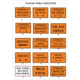 preço da placas de sinalização de segurança em obras Jardim Vera Cruz