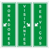 preço de placas de sinalização vertical Parque dos Eucaliptos