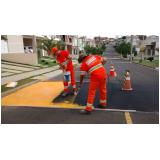 sinalização de obras em vias públicas