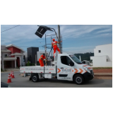sinalização de obras em vias