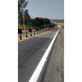 sinalização de obras Jardim Sandra