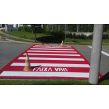 sinalização horizontal de cor vermelha Porto Feliz