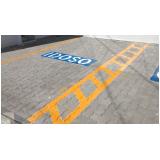 sinalização horizontal para deficientes físicos Atibaia