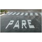 sinalização rodoviária horizontal