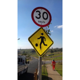 sinalização obras vias públicas valor Jundiaí