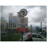 sinalização vertical de trânsito Jardim Guarujá