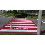 sinalização viária faixa de pedestre Jundiaí