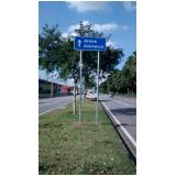 sinalizações viárias pavimentação Jardim Bandeirantes